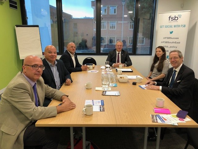 FSB National Chairman Meets Eastbourne Businesses