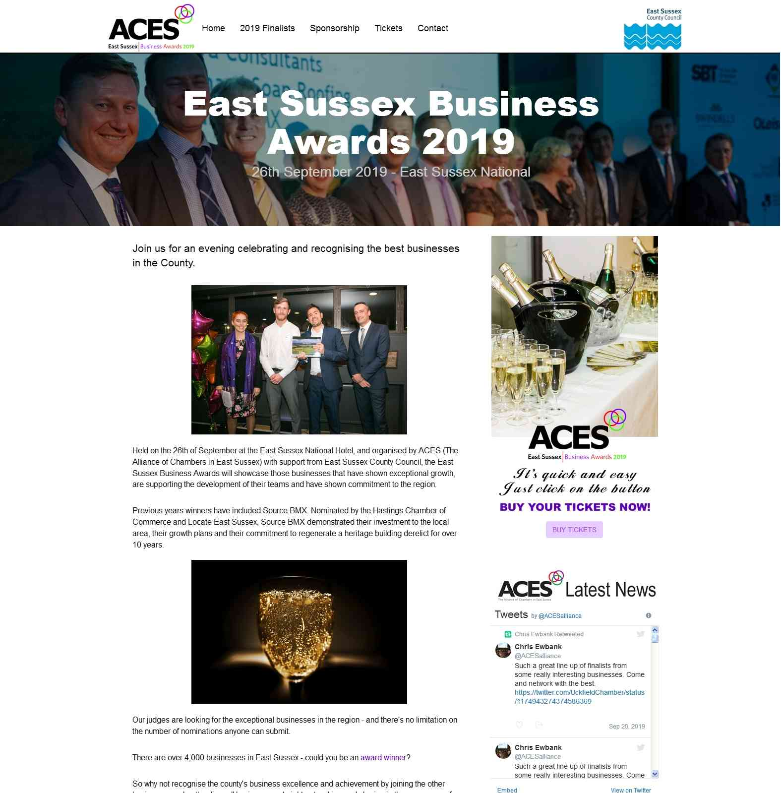 Awards Website Judged As A Hit By East Sussex Chambers of Commerce